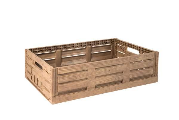 Cajas de pl stico innovadoras con aspecto de madera - Caja de frutas de madera ...