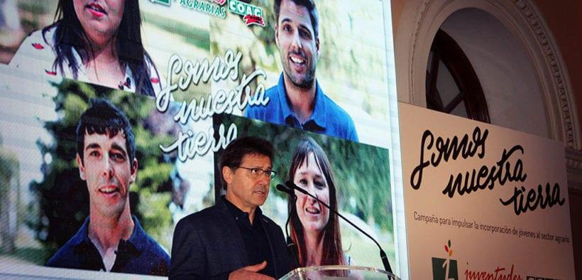 Miguel Blanco, secretario general de COAG, durante la presentación del proyecto 'Somos nuestra tierra'.